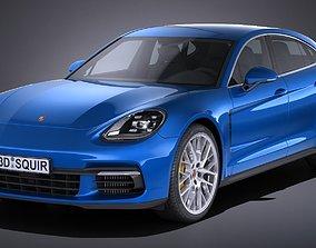 3D model Porsche Panamera 4S 2017