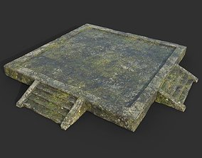 Low poly Ruin Mossy Temple Floor 06 190318 3D model