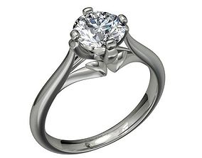JEWELRY ENGAGEMENT RING STL FILE FOR DOWNLOAD 3