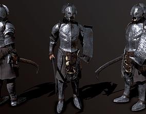 Orc soldier 3D asset VR / AR ready