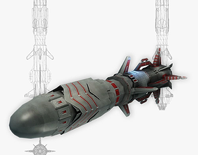 3D model Missile 10 sci-fi low poly