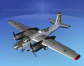 3D model Douglas A-26C Invader Brazil