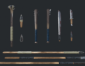 3D model Improvised Weapons and Crafting Materials