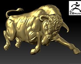 cad 3D print model Bull relief