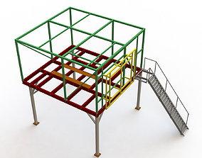 3D model Blower room platform framework