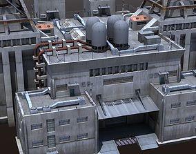 3D model Factory Building - Industrial - Powerplant