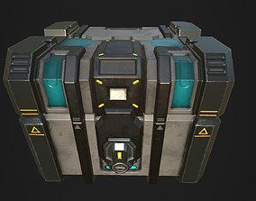 Sci fi Crate - Game mesh 3D asset