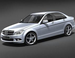3D Mercedes C-class sedan 2008-2011