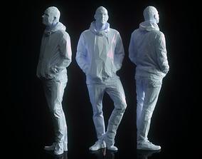 Low Poly Man Posing 3D model