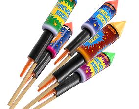 3D Firework Rockets