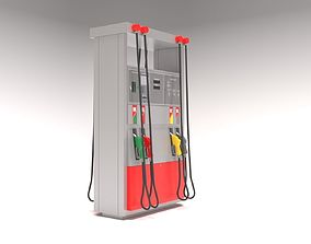 Gas Petrol pump 3D