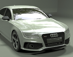 luxury 3D model Audi RS7 Sportback 2013