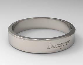 Designer Ring Platinum 3D printable model chrome