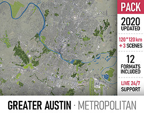 Greater Austin - metropolitan area 3D