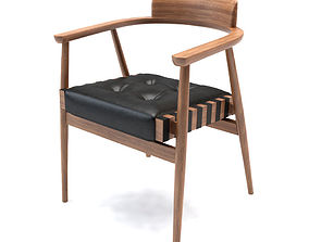3D model Chair with armrests