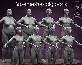3D model Basemeshes big pack