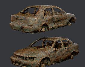3D asset Apocalyptic Damaged Destroyed 4