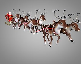 3D model animated Santa Claus