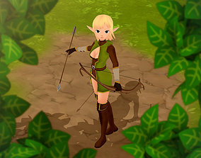 Elf 3D game character animated