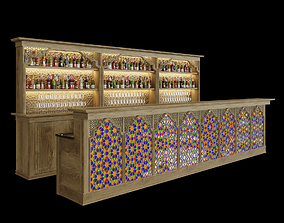 3D model Bar in Oriental style