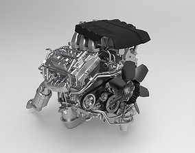 TOYOTA LAND CRUISER Engine Low-poly 3D model