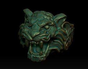 tiger ring silver 3D printable model