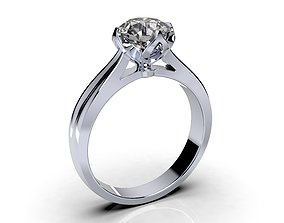 Tulip Style Engagement Ring 3DM CAD