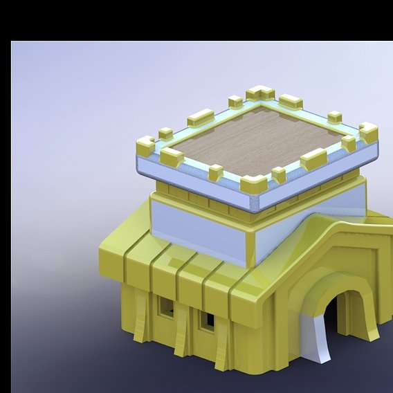 Clash Of Clan Town Hall 8 3d model