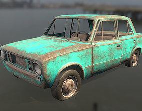 3D model Abandoned car