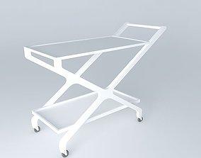 3D cha trolley tea cart