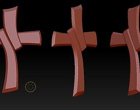 3d stl obj 3ds wrl models for CNC cross