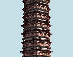 The TianNing Temple Pagoda temple 3D model