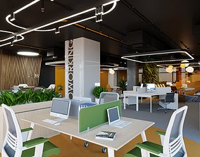 coworking space 3D