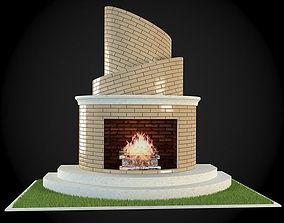 3D model Garden Fireplace decor