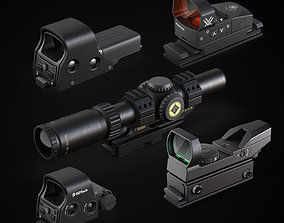 Various sighting scope 3D