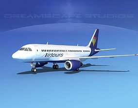 3D Airbus A319 Air Tours