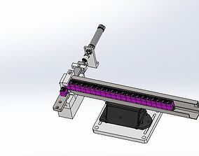 A vibrating disc feeding mechanism 3D