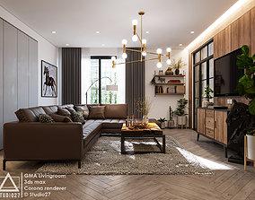 GMA Livingroom 3D Scene