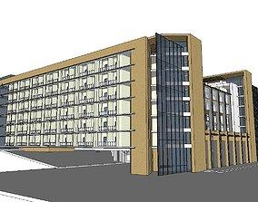 Office-Teaching Building-Canteen 55 3D