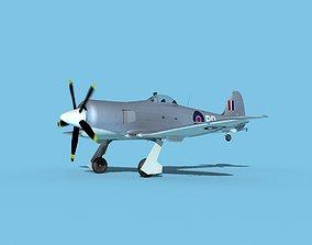 Hawker Sea Fury MKII V07 RN 3D model
