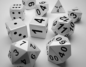 Role Playing Dice - Complete Set 3D print model