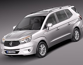 3D model SsangYong Rodius Turismo 2014