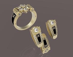ring earring pendant silver 3D print model