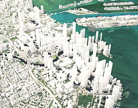 3D model City Miami Florida USA cityscape