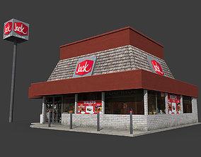Jack in the Box Restaurant 3D model