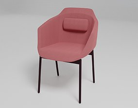 ULTRA - Fabric chair with armrests - 3D