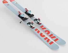 Ski equipments 3D