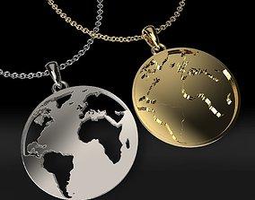 3D print model earth pendants