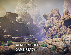 Western cliffs 3D asset