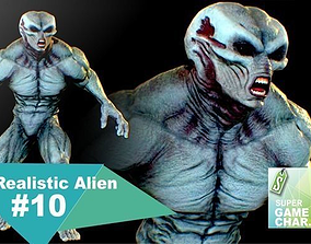 3D asset animated Realistic Alien 10